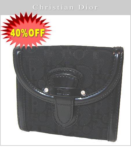 【40%OFF】クリスチャンディオール 折財布 ロゴ/ブラック JAM43070 新品