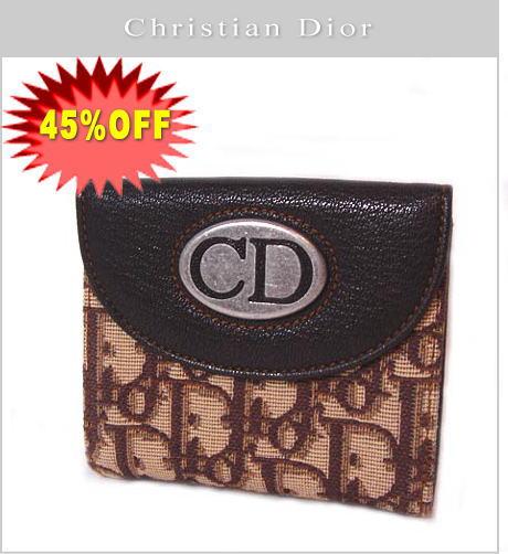クリスチャンディオール 折財布 ヴィンテージライン/ブラウン TNL43070 新品