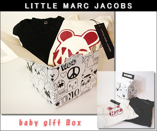LITTLE MARC JACOBS(リトル・マークジェイコブス)専用ギフトボックス付 足付きロンパース 2Pセット 新品