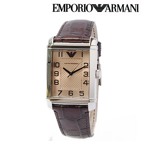 EMPORIO ARMANI エンポリオ アルマーニ メンズ腕時計 (Classic) ダークブラウン AR0489【新品】【送料無料】