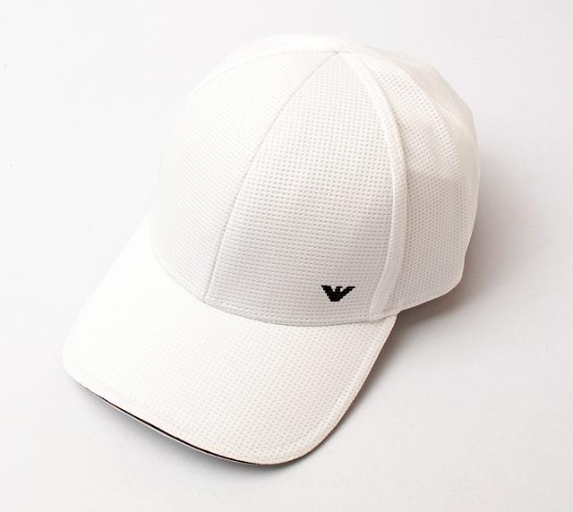 エンポリオアルマーニ キャップ/帽子 EMPORIO ARMANI メンズ ベースボールキャップ メッシュ/ホワイト 627787 7P503 00010