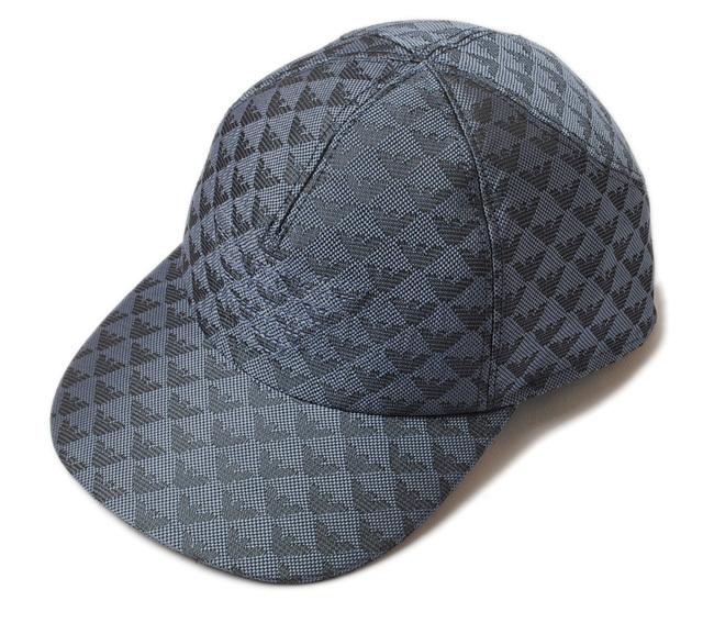 エンポリオアルマーニ キャップ/帽子 EMPORIO ARMANI メンズ ベースボールキャップ ロゴ/ブルー 627766 7P507 00532