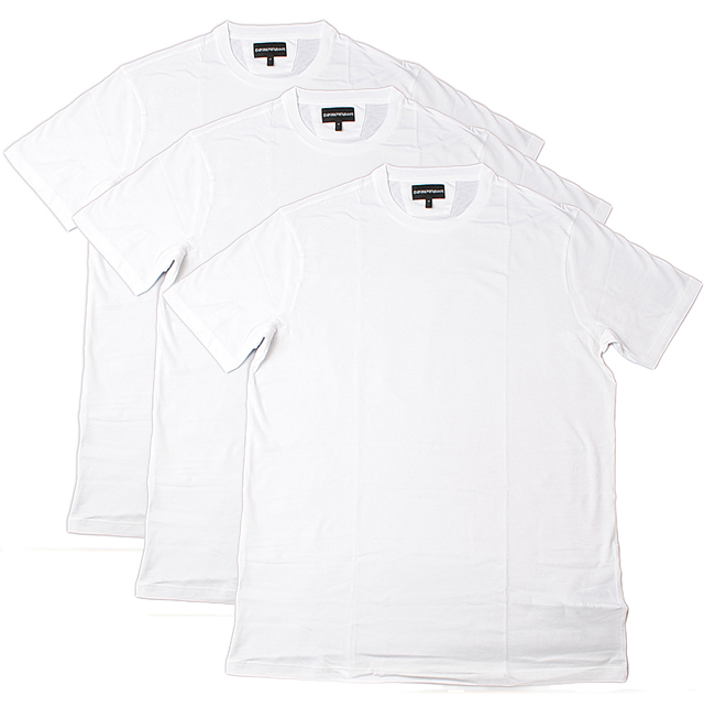 エンポリオ アルマーニ 半袖Tシャツ 3枚セット EMPORIO ARMANI メンズ アンダーウェア クルーネック ホワイト 3Y1DA1 1JCRZ 0100