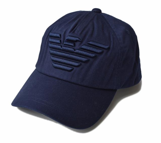 エンポリオアルマーニ キャップ/帽子 EMPORIO ARMANI メンズ ベースボールキャップ イーグル/ブルー 627522 CC995 57235