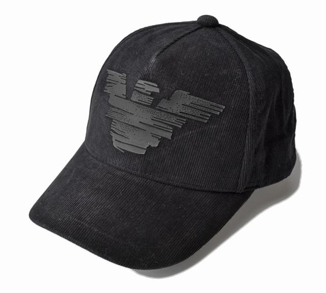 エンポリオアルマーニ キャップ/帽子 EMPORIO ARMANI メンズ ベースボールキャップ イーグル/ブラック 637212 9A500 00020