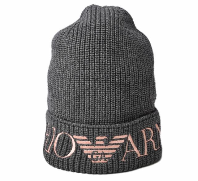 エンポリオアルマーニ ニットキャップ/帽子 EMPORIO ARMANI メンズ ビーニー/ニット帽 ロゴ ムーンロック 637213 9A501 21542