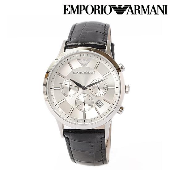 EMPORIO ARMANI エンポリオ アルマーニ メンズ腕時計 (Classic) クノログラフ ブラック AR2432【新品】【送料無料】