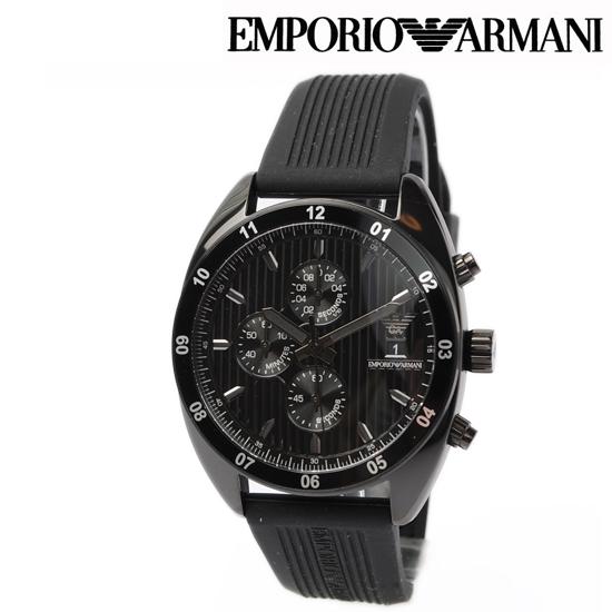 EMPORIO ARMANI エンポリオ アルマーニ メンズ腕時計 (Sport) クノログラフ ブラック AR5928【新品】【送料無料】