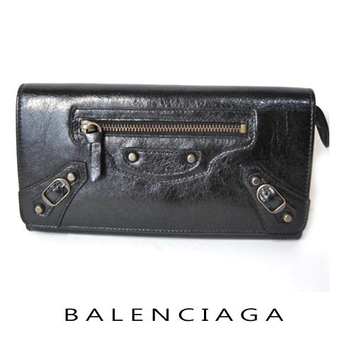 【送料無料】バレンシアガ ファスナー付長財布 163471 ブラック 新品