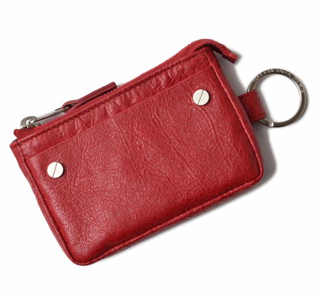バレンシアガ コインケース/カードケース BALENCIAGA キーリング付 CLASSIC レッド 286098
