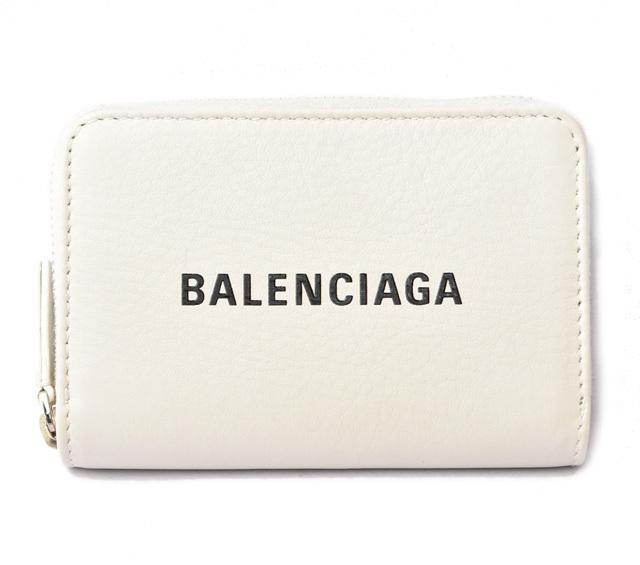 バレンシアガ ミニ財布 BALENCIAGA エブリデイ カードコイン/ポーチ ホワイト 505049 アウトレット