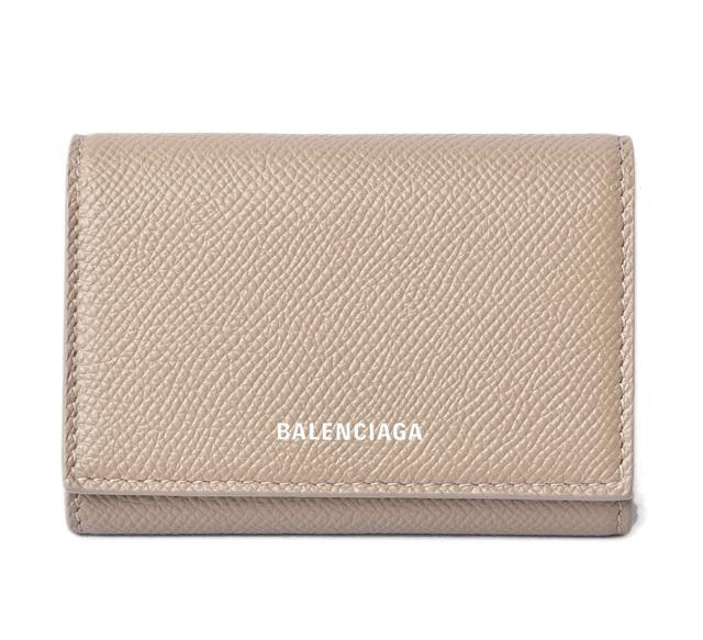 バレンシアガ カードケース/コインケース BALENCIAGA ミニ財布 ヴィル アコーディオン カードホルダー ライトブラウン 581099