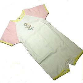 ベビーディオール 半袖ロンパース ピンク・イエロー