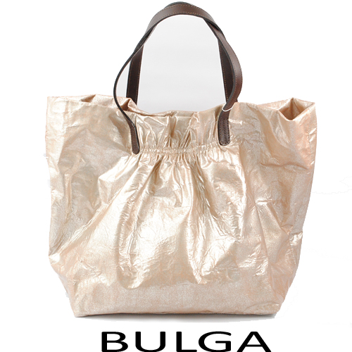 【送料無料】ブルガ BULGA トートバッグパテントレザー メタリックピンク 未使用