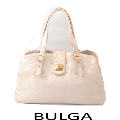 【送料無料】ブルガ BULGA トートバッグ レザー ライトピンク 5177 未使用