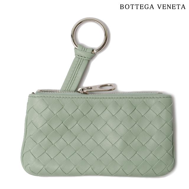 ボッテガヴェネタ BOTTEGA VENETA キーケース/コインケース キーリング付 ナッパ ライトグリーン 131232