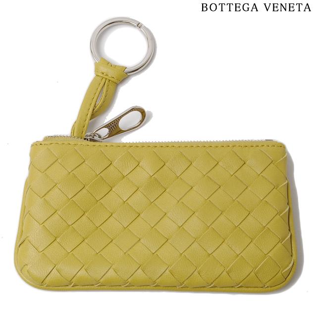 ボッテガヴェネタ BOTTEGA VENETA キーケース/コインケース キーリング付 ナッパ イエロー 131232