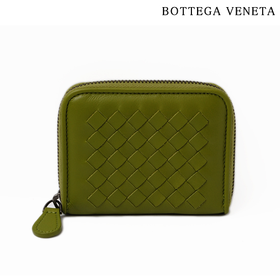 BOTTEGA VENETA ボッテガ ヴェネタ  カードケース・コインケース  ライトカーフ ペリドット 258468 VQ122 3802【新品】【送料無料】