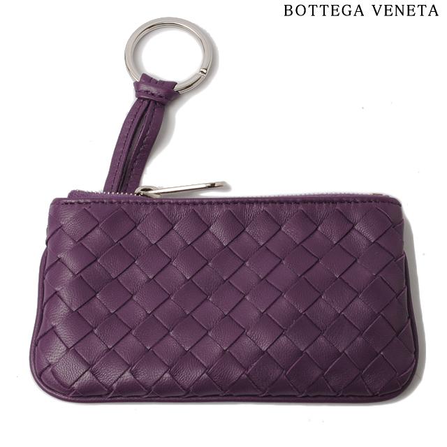 ボッテガヴェネタ BOTTEGA VENETA キーケース/コインケース キーリング付 ナッパ パープル 131232