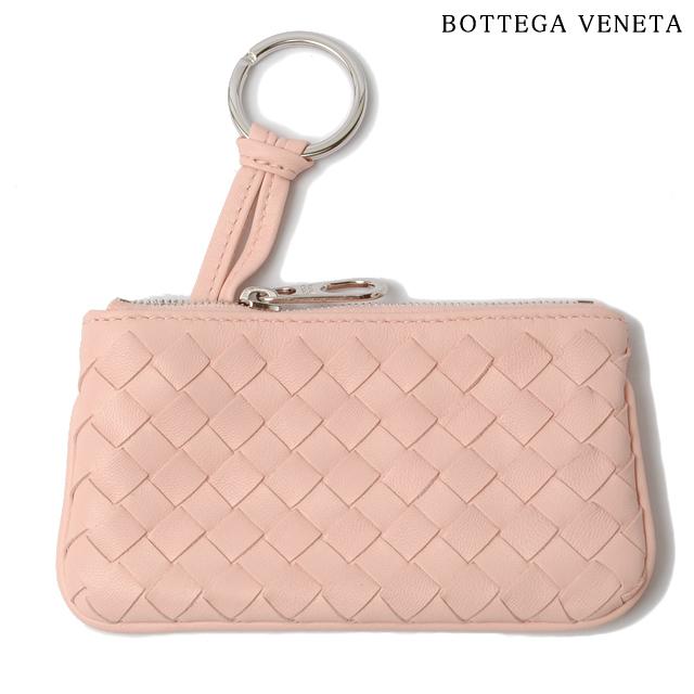 ボッテガヴェネタ BOTTEGA VENETA キーケース/コインケース キーリング付 ナッパ ライトピンク 131232