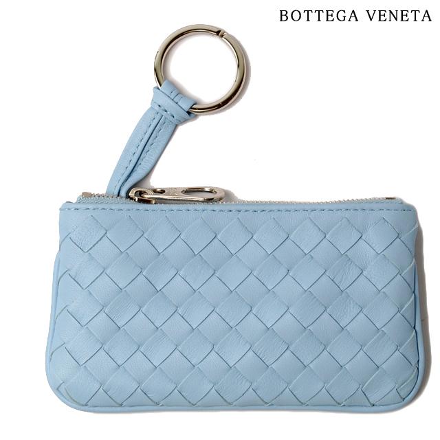 ボッテガヴェネタ BOTTEGA VENETA キーケース/コインケース キーリング付 ナッパ ライトブルー 131232