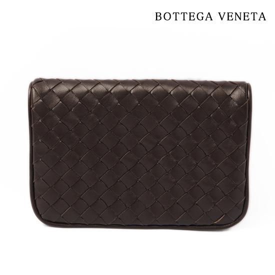 BOTTEGA VENETA ボッテガ ヴェネタ  カードケース/折財布 レザー/ブラウン(EBANO) 256391 V001N 2040