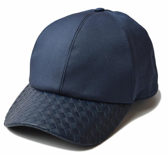 ボッテガヴェネタ キャップ/帽子 BOTTEGA VENETA メンズ ベースボールキャップ ネイビー 495486
