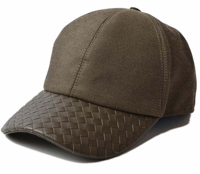 ボッテガヴェネタ キャップ/帽子 BOTTEGA VENETA メンズ ベースボールキャップ アーミーグリーン 495486