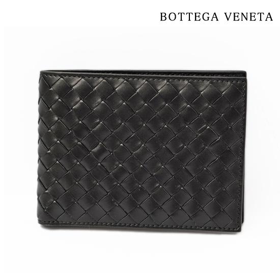 BOTTEGA VENETA ボッテガ ヴェネタ 2折財布 イントレチャート VN ブラック 113112 V4651 1000【新品】【送料無料】