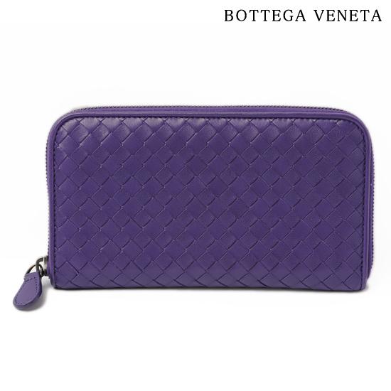 BOTTEGA VENETA ボッテガ ヴェネタ ラウンドファスナー式長財布 ナッパ ダークパープル B01233848C【新品】【送料無料】