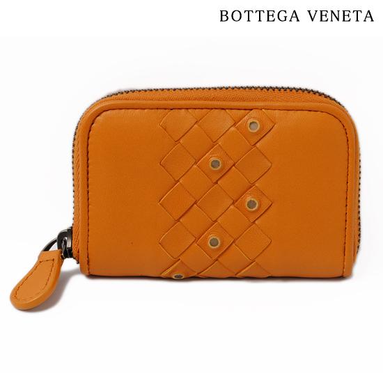 BOTTEGA VENETA ボッテガ ヴェネタ カードケース・コインケース トパーズイエロー 114075 VT291 7604【新品】【送料無料】