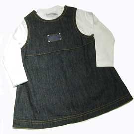 ベビーディオール  ワンピース Tシャツセット デニム/ホワイト 6M