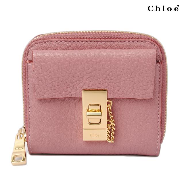 Chloe クロエ 折財布 ファスナー式 ドリューFADED ROSE/ローズ 3P0782-944