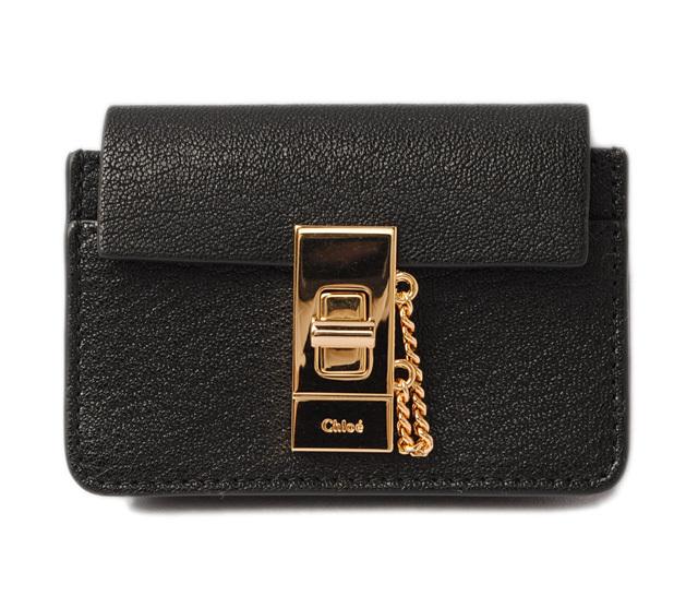 クロエ コインケース/カードケース Chloe DREW/ドリュー BLACK/ブラック 3P0807-944