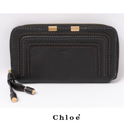 【送料無料】2010春夏 クロエ Chloe マーシー ラウンドファスナー式長財布 レザー/ブラック 3P0571-161 001 新品
