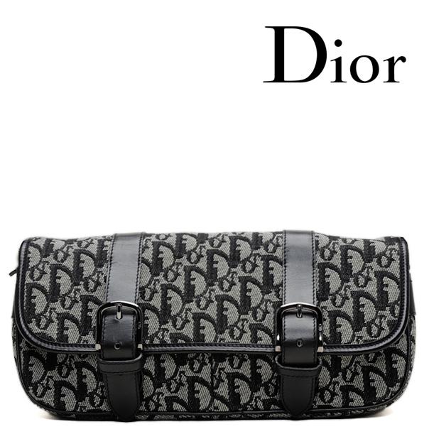 Christian Dior クリスチャン・ディオール  斜め掛けショルダーバッグ ロゴ/キャンバス ブラック【中古】【送料無料】