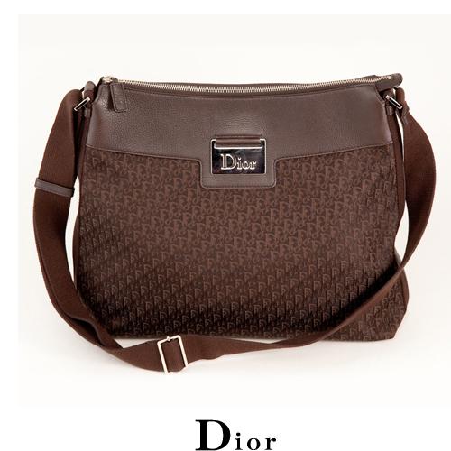 【送料無料】クリスチャン・ディオール Dior メッセンジャーバッグ ディオリッシモ/ブラウン 中古SA