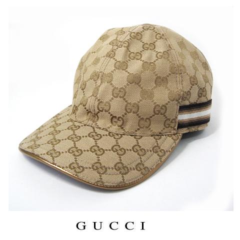 【送料無料】グッチ GUCCI ベースボールキャップ・帽子 GGゴールド/ベージュ ブラウン 200043 新品