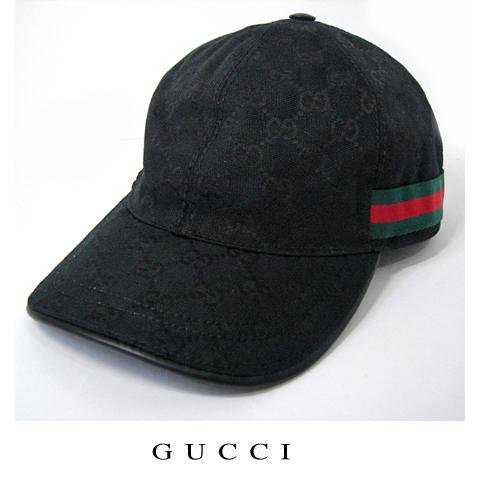 GUCCI グッチ ベースボールキャップ・帽子 GGブラック レッド×グリーン 200035 FFKPG 1060【新品】【送料無料】