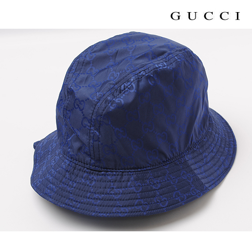【送料無料】2010春夏 グッチ GUCCI ハット・帽子×ポーチ付 ブルー 233940 FJ70N 4506 新品