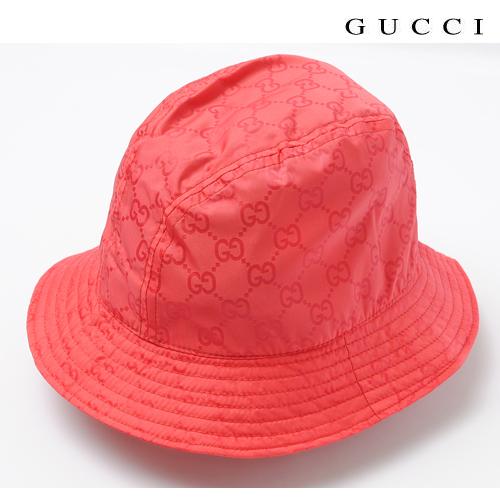 【送料無料】グッチ GUCCI ハット・帽子×ポーチ付 レッド 233940 FJ70N 5602 新品