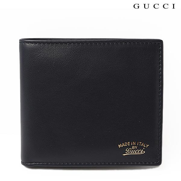 GUCCI グッチ 折財布 メンズライン レザー ロゴ ディープブルー 308790 AP00G 4009