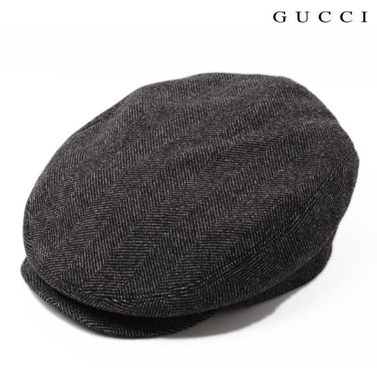 GUCCI グッチ メンズライン ハンチング・ベレー帽 ウール グレー 256481 F890N 1165【新品】【送料無料】