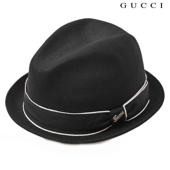 GUCCI グッチ メンズライン ハット・帽子 ラビット・ファー ブラック 295570 KDG3N 1006【新品】【送料無料】