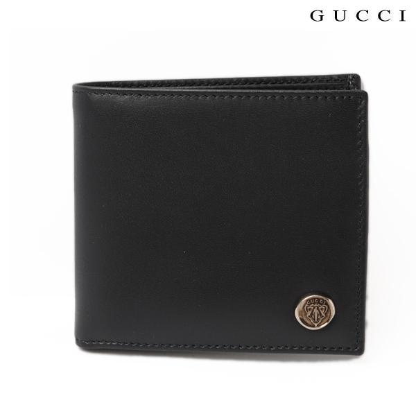 GUCCI グッチ 折財布 メンズライン レザー クレスト ディープブルー 308617 BGH0N 4009
