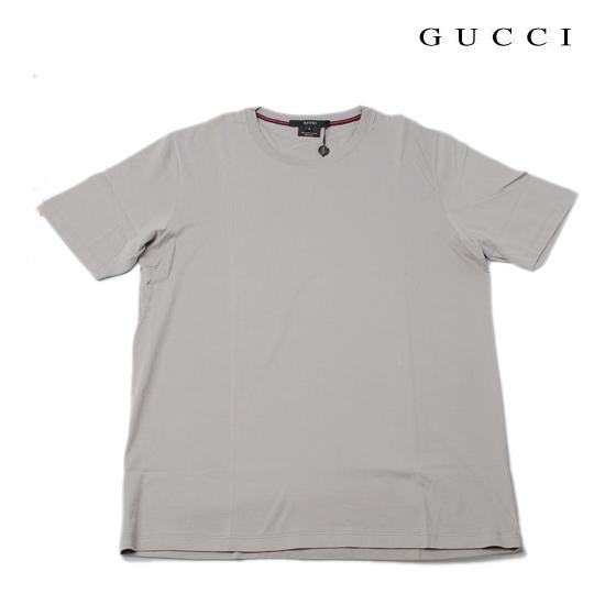 GUCCI グッチ アパレル メンズ 半袖Tシャツ 丸首 ライン グレー 131784 Z1351 1102【新品】【送料無料】