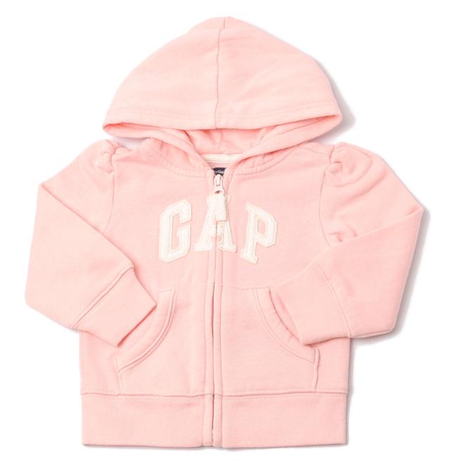 GAP ギャップ キッズ パーカー 家着 ベビー 女の子 出産祝い GAP KIDS Baby ロゴ/パステルピンク