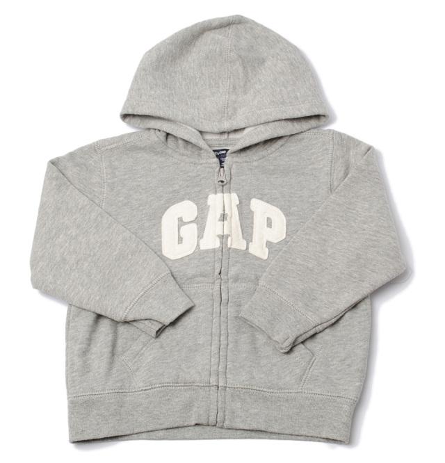GAP ギャップ キッズ パーカー 家着 ベビー 出産祝い GAP KIDS Baby ロゴ/ライトグレー