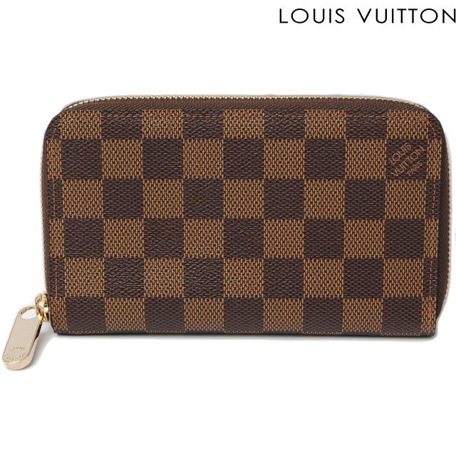 ルイヴィトン LOUIS VUITTON 長財布 ジッピー・コンパクト ウォレット N60028 ラウンドファスナー式 ダミエ