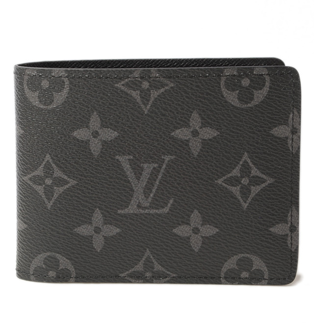 ルイヴィトン 財布 LOUIS VUITTON 折財布/札入れ ポルトフォイユ・ミュルティプル モノグラムエクリプス ブラック M61695